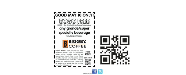 Photo taken at BIGGBY COFFEE by Ashley L. on 5/10/2015