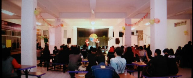 Photo taken at Gedung Unit 5 STMIK AMIKOM Yogyakarta by Hafidh R. on 5/27/2014