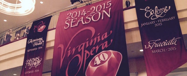 Photo taken at Virginia Opera by Geoff M. on 9/25/2014