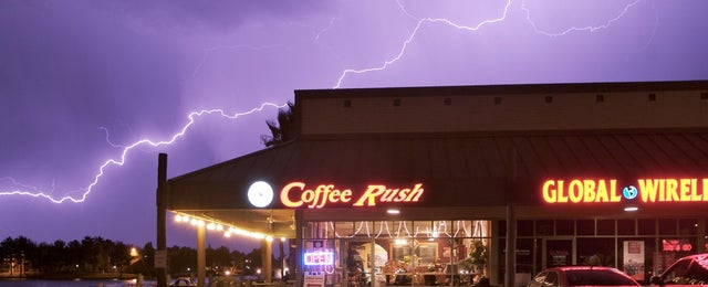 Photo taken at Coffee Rush by Coffee Rush on 5/20/2014