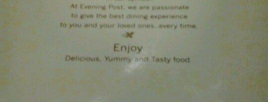 Evening post is one of Restaurants You Must Visit.