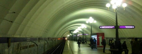 Метро «Старая деревня» (metro Staraya Derevnya) is one of Метро Санкт-Петербурга.