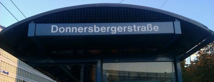 H Donnersbergerstraße is one of München Tramlinie 17.