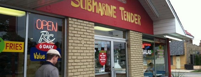 Submarine Tender is one of Food.
