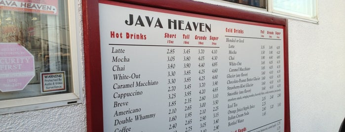 Java Heaven is one of Resteraunts.