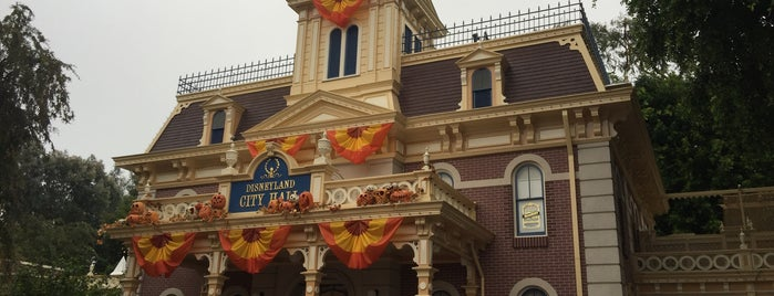 City Hall - Guest Relations is one of Disneyland.
