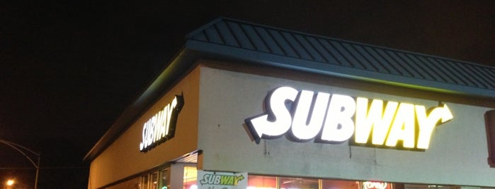 Subway is one of favorites.