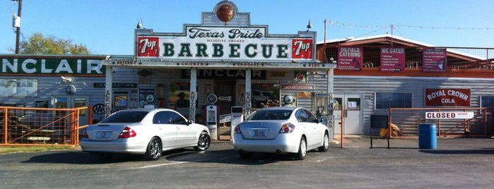 Texas Pride BBQ is one of DINERS DRIVE-IN & DIVES 3.