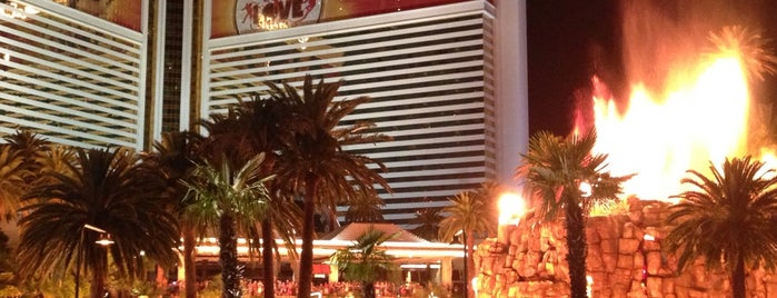 The Mirage Volcano is one of Vegas.