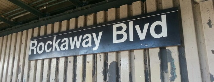 MTA Subway - Rockaway Blvd (A) is one of Great Outdoor and Swimmies.