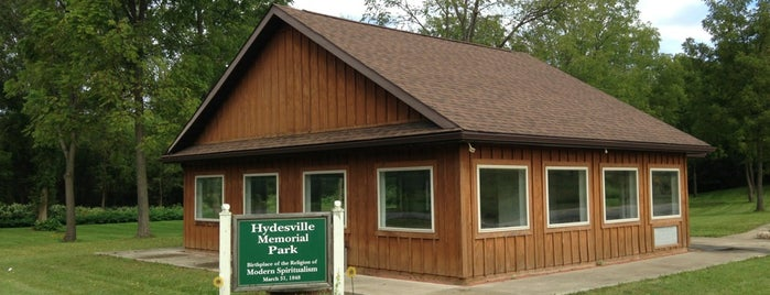 Hydesville Memorial park is one of Sacred Sites in Upstate NY.