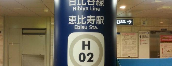 Hibiya Line Ebisu Station (H02) is one of Station.