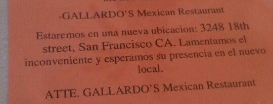 Gallardo's Mexican Restaurant is one of San Francisco.