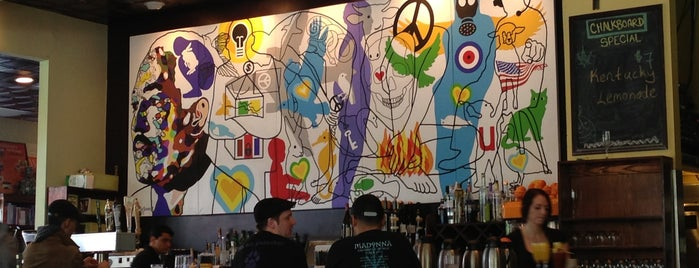 Busboys and Poets is one of DC Burgers.