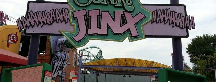 Joker's Jinx is one of ROLLER COASTERS.