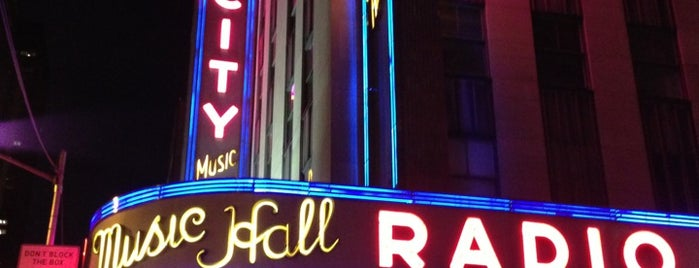 Radio City Music Hall is one of 2 do list # 2.