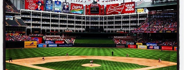 Globe Life Park in Arlington is one of Major League Ballparks.