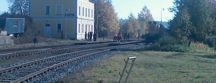 Železniční stanice Toužim is one of Železniční stanice ČR: Š-U (12/14).
