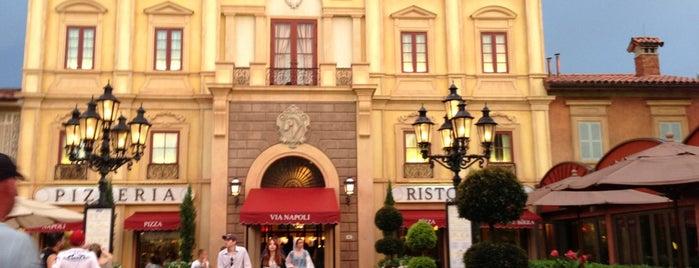 Via Napoli is one of Epcot World Showcase.