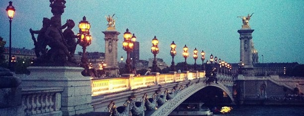 Alexandre III Bridge is one of First Time in Paris?.