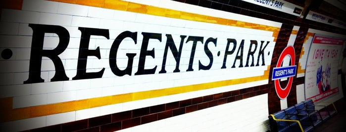 Regent's Park London Underground Station is one of Zone 1 Tube Challenge.