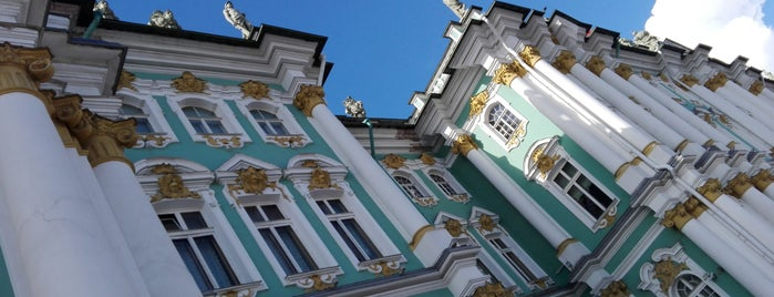 The Winter Palace is one of Санкт-Петербург.