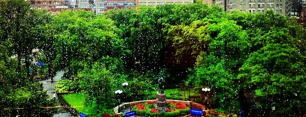 Union Square Park is one of Wi-Fi in NYC Parks.