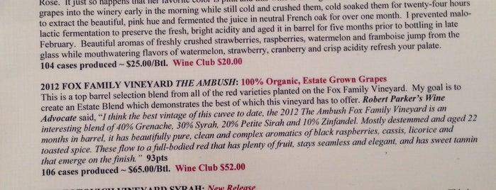 Blair Fox Cellars Tasting Room is one of Daily Sip Deals.