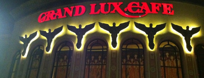 Grand Lux Cafe is one of 20 favorite restaurants in DFW.
