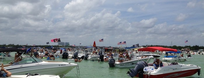Haulover Sandbar is one of favoriteplaces.