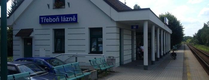Železniční zastávka Třeboň lázně is one of Železniční stanice ČR: Š-U (12/14).