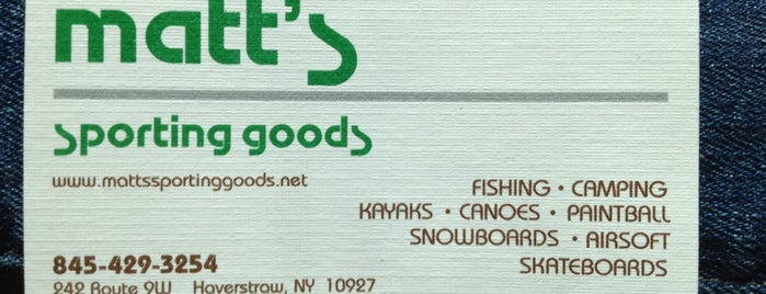 Matt's Sporting Goods is one of SNOWBOARD SHOPS.