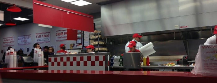 Five Guys is one of Best Burger Places.
