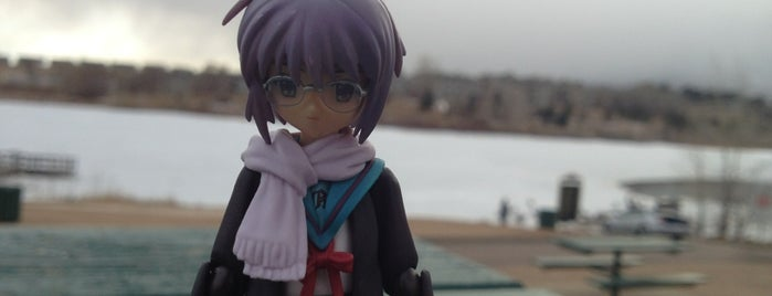 Quail Lake Park is one of The Travelogue of Haruhi Suzumiya 涼宮ハルヒの旅日記.