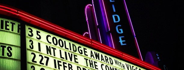 Coolidge Corner Theatre is one of Nearby Neighborhoods: Coolidge Corner.