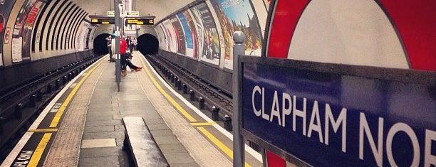 Clapham North London Underground Station is one of Tube Challenge.