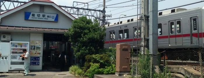 Horikiri Station (TS07) is one of 東武伊勢崎線.