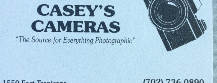 Casey's Cameras is one of Vegas.