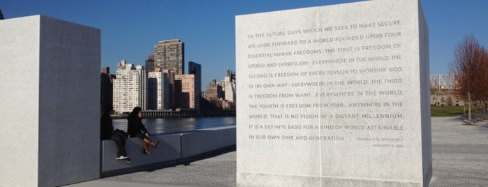 Four Freedoms Park is one of NYC SCENERY by the water.