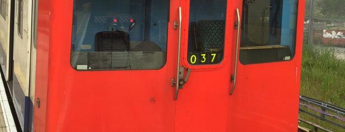 Dagenham East London Underground Station is one of Tube Challenge.