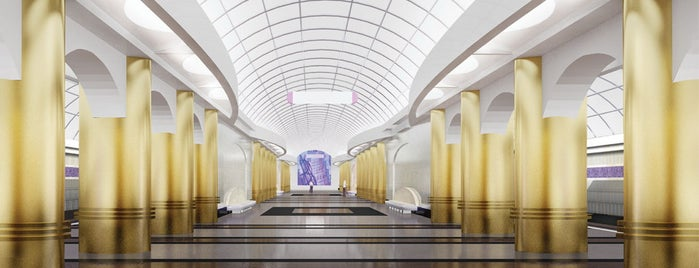 Метро «Международная» (metro Mezhdunarodnaya) is one of Метро Санкт-Петербурга.