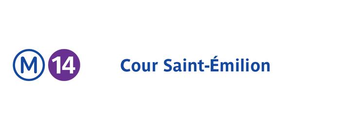 Métro Cour Saint-Émilion [14] is one of Stations de metro a Paris.