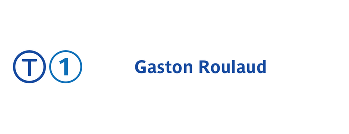 Station Gaston Roulaud [T1] is one of Tramway T1.