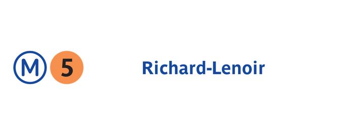 Métro Richard-Lenoir [5] is one of Métro de Paris.