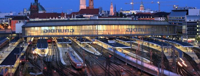 Munich Main Railway Station is one of MUC.