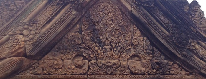 Banteay Srei Temple ប្រាសាទបន្ទាយស្រី is one of Siem Reap Sep2012.