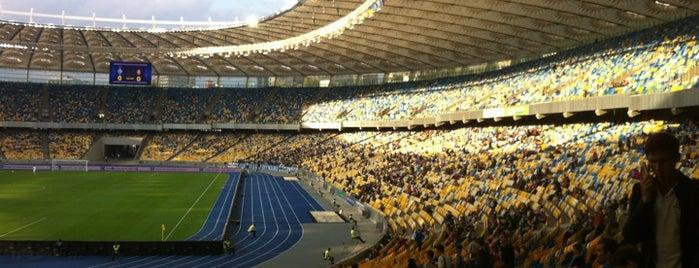 Olimpiyskiy Stadium is one of TOP-20: Київ.