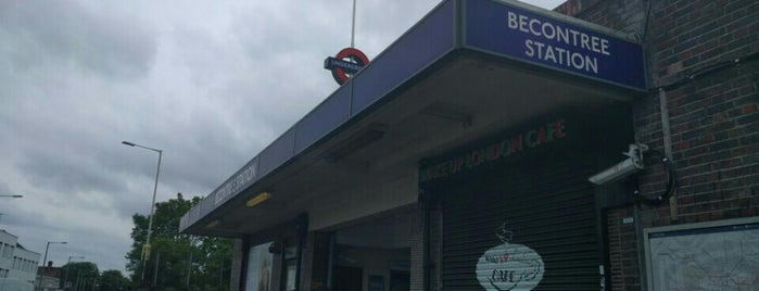 Becontree London Underground Station is one of Tube Challenge.