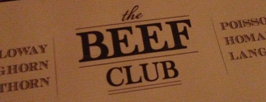The Beef Club is one of Burgers.