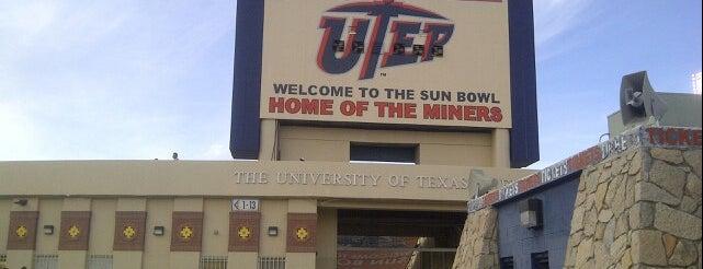 Sun Bowl Stadium is one of Stadiums.